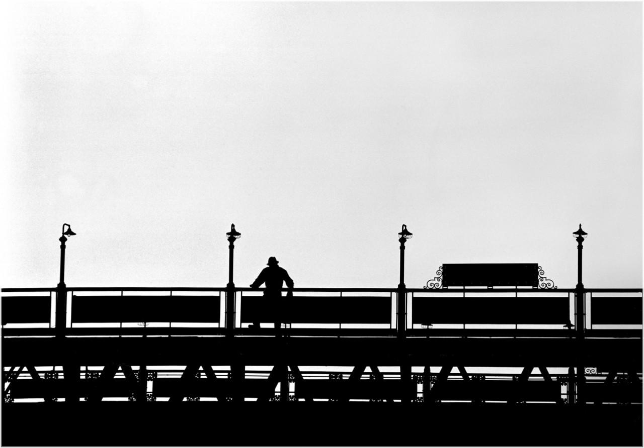 Ожидание поезда, Нью-Йорк, 1986. Фотограф Мэтт Вебер