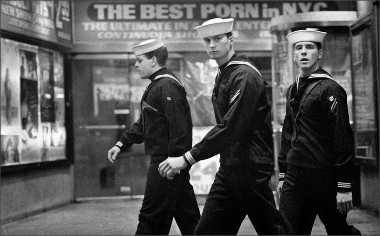 Матросы на Таймс-сквер, 1989. Фотограф Мэтт Вебер