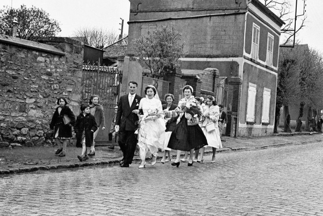 Свадьба в Порт-де-Клиньянкур, 1954. Фотограф Пьерджорджо Бранци