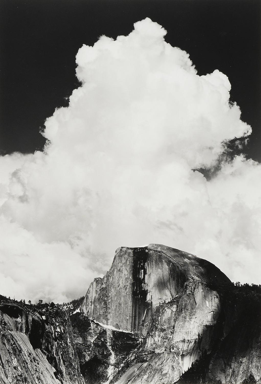 Хаф-Доум, Грозовое облако, 1956. Фотограф Энсел Адамс