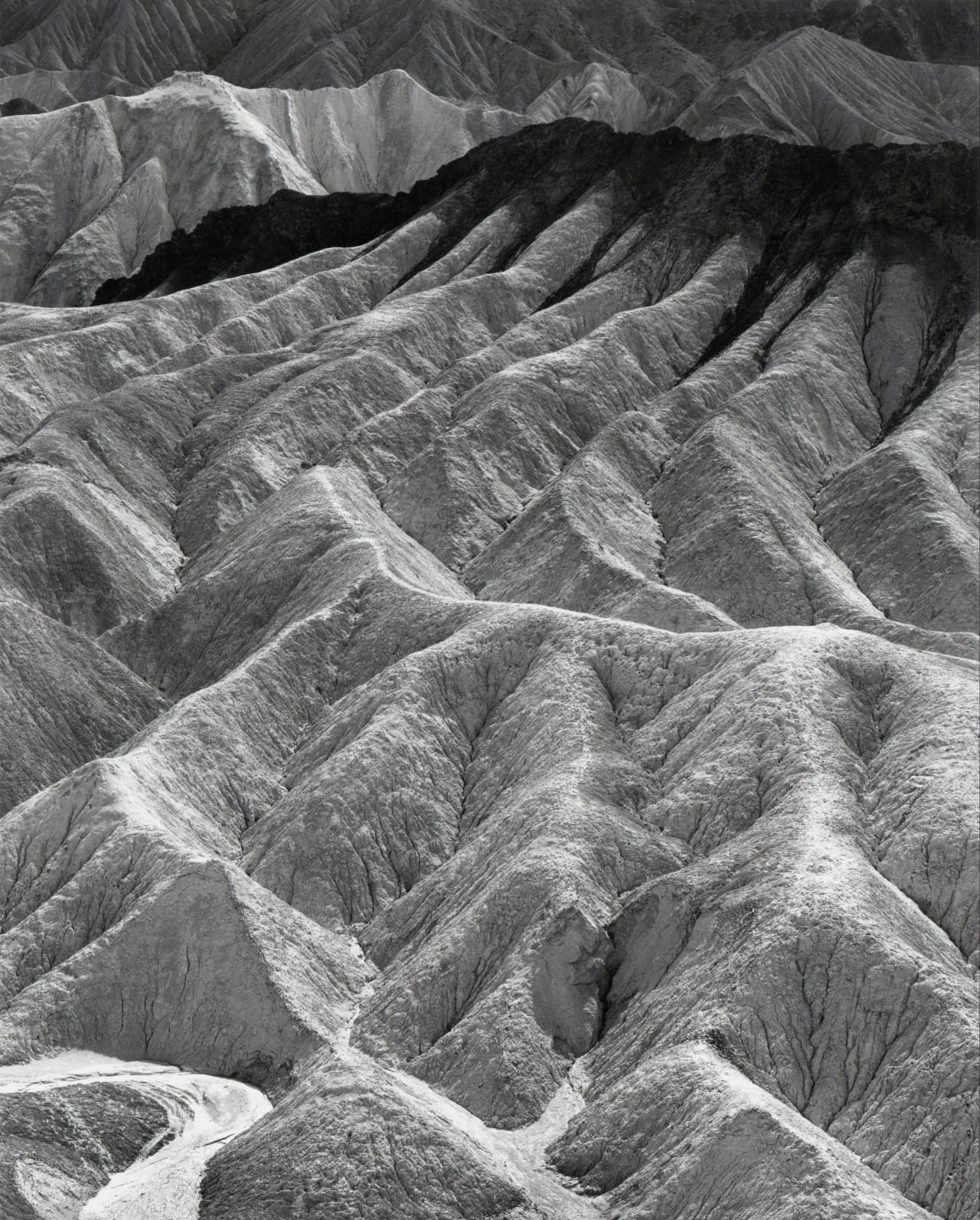 Забриски-Пойнт, Национальный парк Долина Смерти, Калифорния, 1942. Фотограф Энсел Адамс