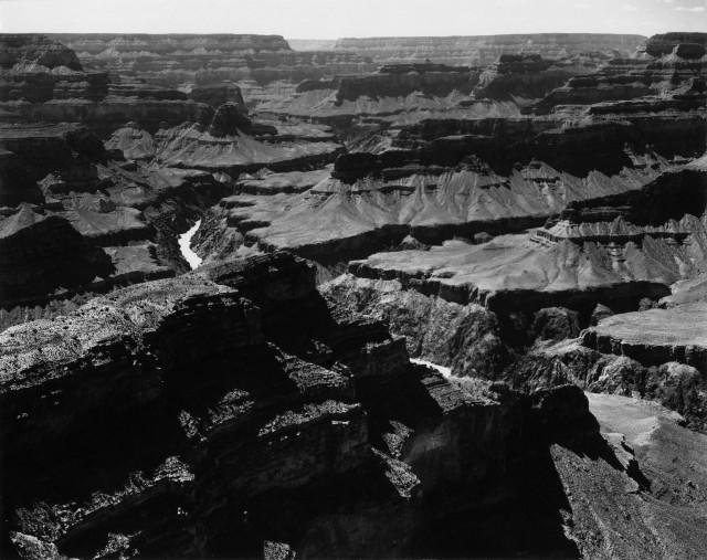 Национальный парк Гранд-Каньон, к западу от мыса Мохаве, Аризона, 1947. Фотограф Энсел Адамс