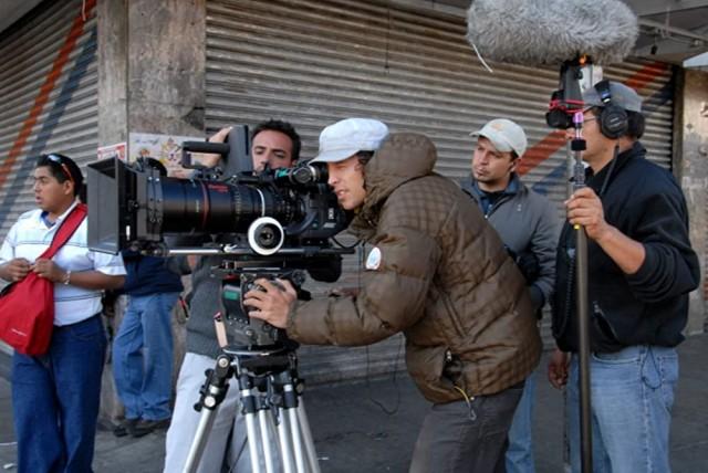 Кэри Фукунага на съёмках фильма «Без имени», 2009