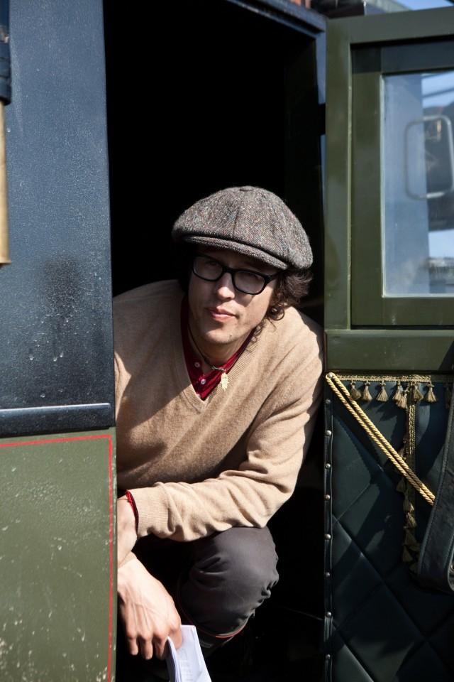 Кэри Фукунага на съёмках фильма «Джейн Эйр», 2011