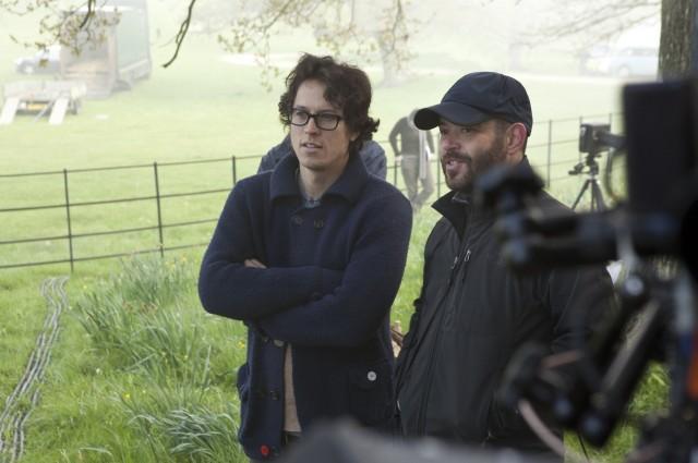 Оператор Адриано Гольдман и режиссёр Кэри Фукунага на съёмках фильма «Джейн Эйр», 2011