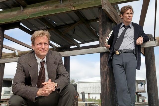 Вуди Харрельсон и Мэттью Макконахи в «Настоящем детективе», 2014