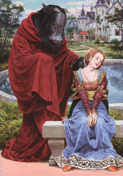 «Красавица и Чудовище». Иллюстратор: Денис Гордеев