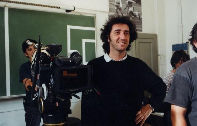 Паоло Соррентино на съёмках фильма «Лишний человек», 2001