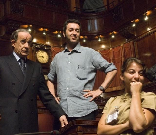 Тони Сервилло и Паоло Соррентино на съёмках фильма «Изумительный», 2008