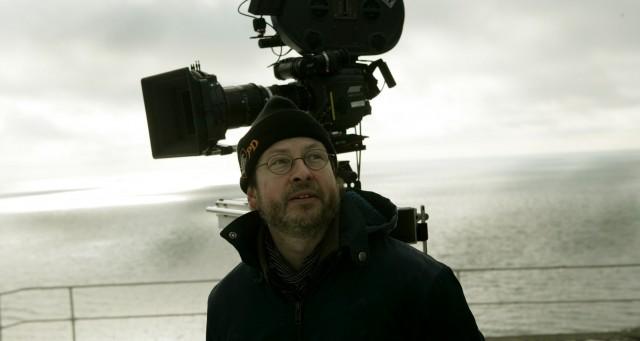 Ларс фон Триер на съёмках фильма «Самый главный босс», 2006