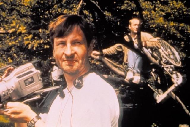 Ларс фон Триер на съёмках фильма «Идиоты», 1998