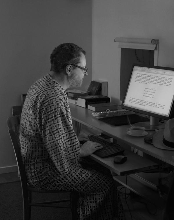 Ларс фон Триер на съёмках фильма «Нимфоманка», 2013