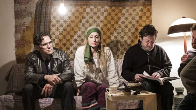 Мэтт Диллон, Марьяна Янковичи и Ларс фон Триер на съёмках фильма «Дом, который построил Джек», 2018