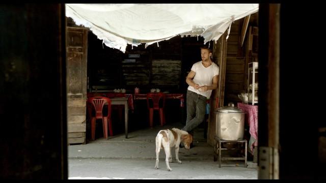 Райан Гослинг на съёмках фильма «Только Бог простит», 2013
