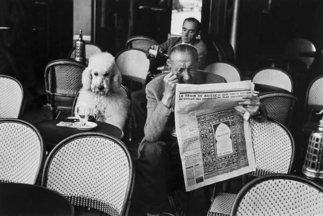 Кафе де Флор, Сен-Жермен-де-Пре, 1953. Фотограф Эдуард Буба