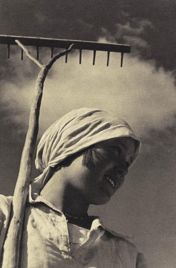 Колхозница, 1934. Фотограф Георгий Петрусов