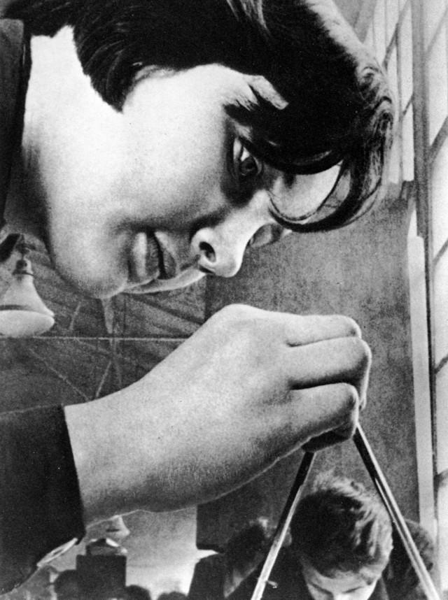 Студентка, 1934. Фотограф Елеазар Лангман