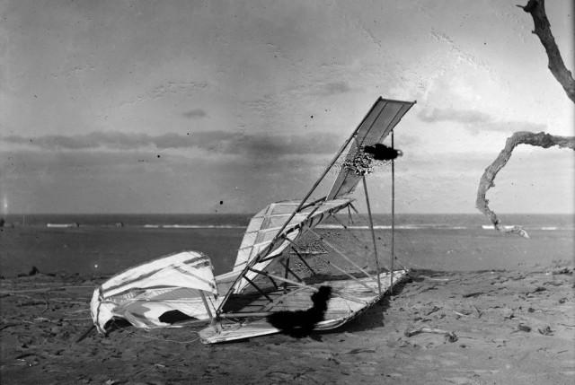 Разбившийся планер братьев Райт, 10 октября 1900 года