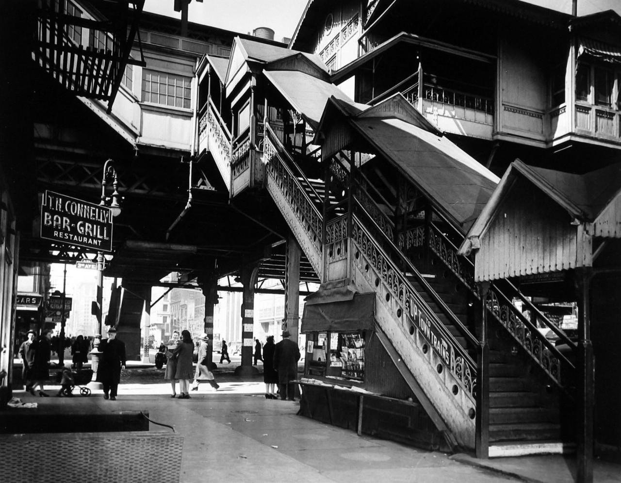 Третья авеню, Нью-Йорк, 1936. Фотограф Арнольд Игл