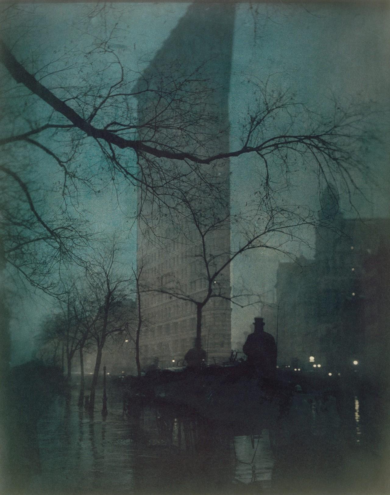 Флэтайрон-билдин, Нью-Йорк, 1904. Фотограф Эдвард Стейхен