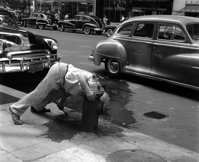 Нью-Йорк 1940-х. Фотограф Мартин Элкорт