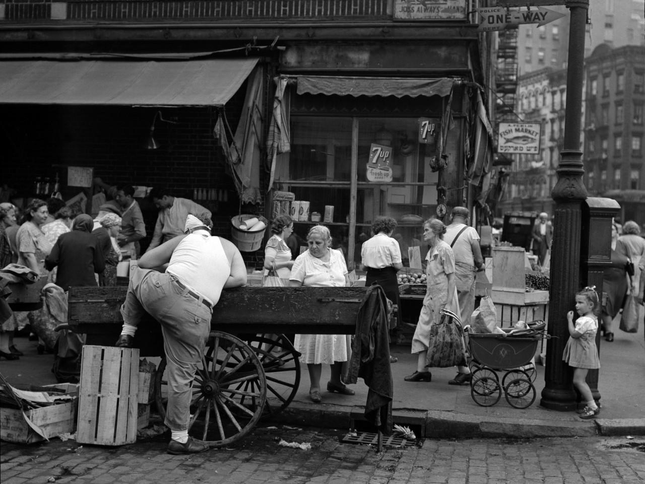 Саффолк и Хестер-стрит, Нью-Йорк, 1946. Фотограф Тодд Уэбб