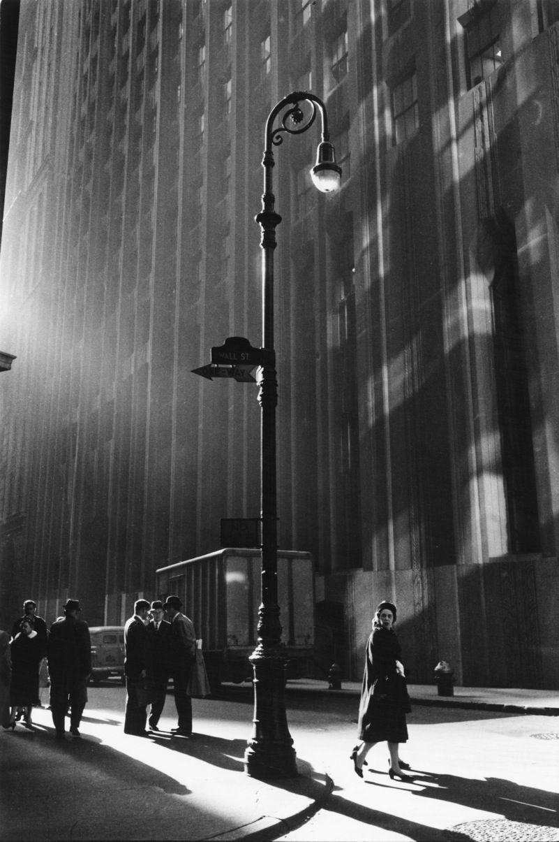 Уолл-стрит, Нью-Йорк, 1960. Фотограф Нил Либберт
