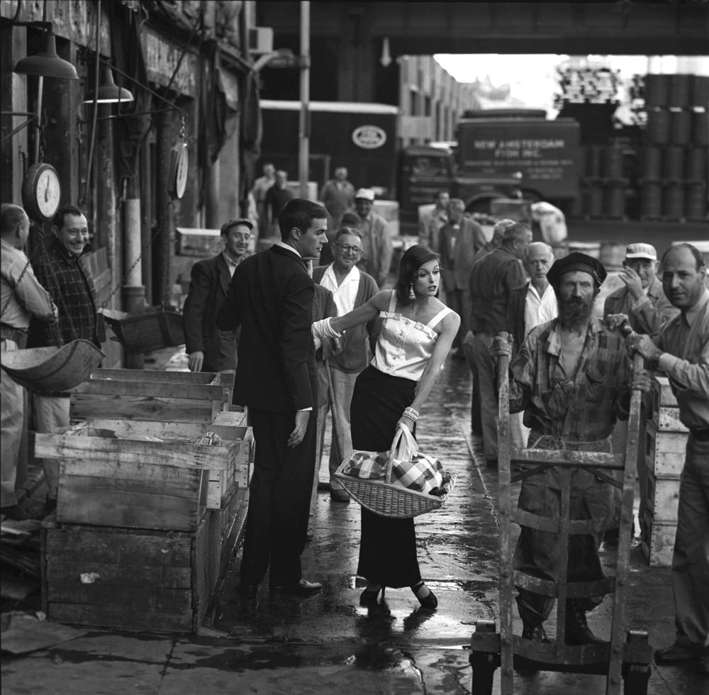 Рынок на Фултон-стрит, Манхэттен, Нью-Йорк, 1958. Фотограф Джерри Шацберг