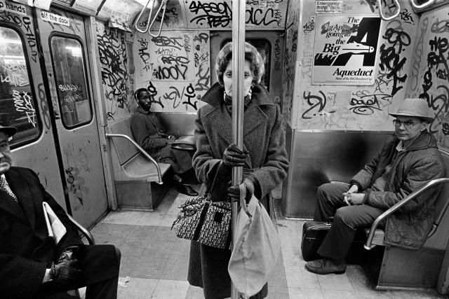 Метро, Нью-Йорк, 1980-е. Фотограф Ричард Сэндлер