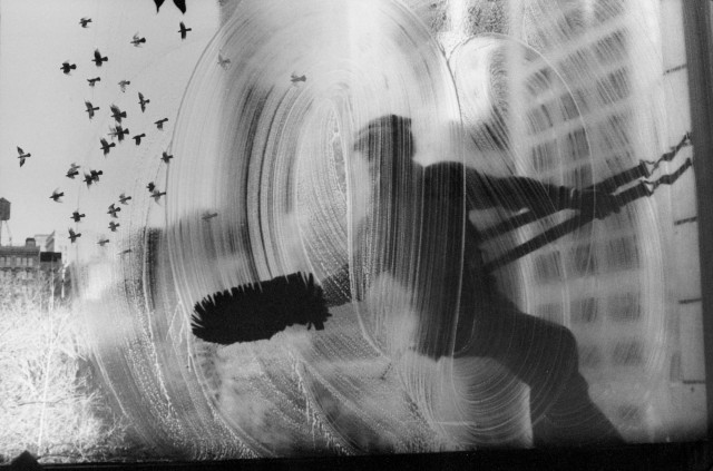 Мойщик окон, 1968. Фотограф Гарольд Файнштейн