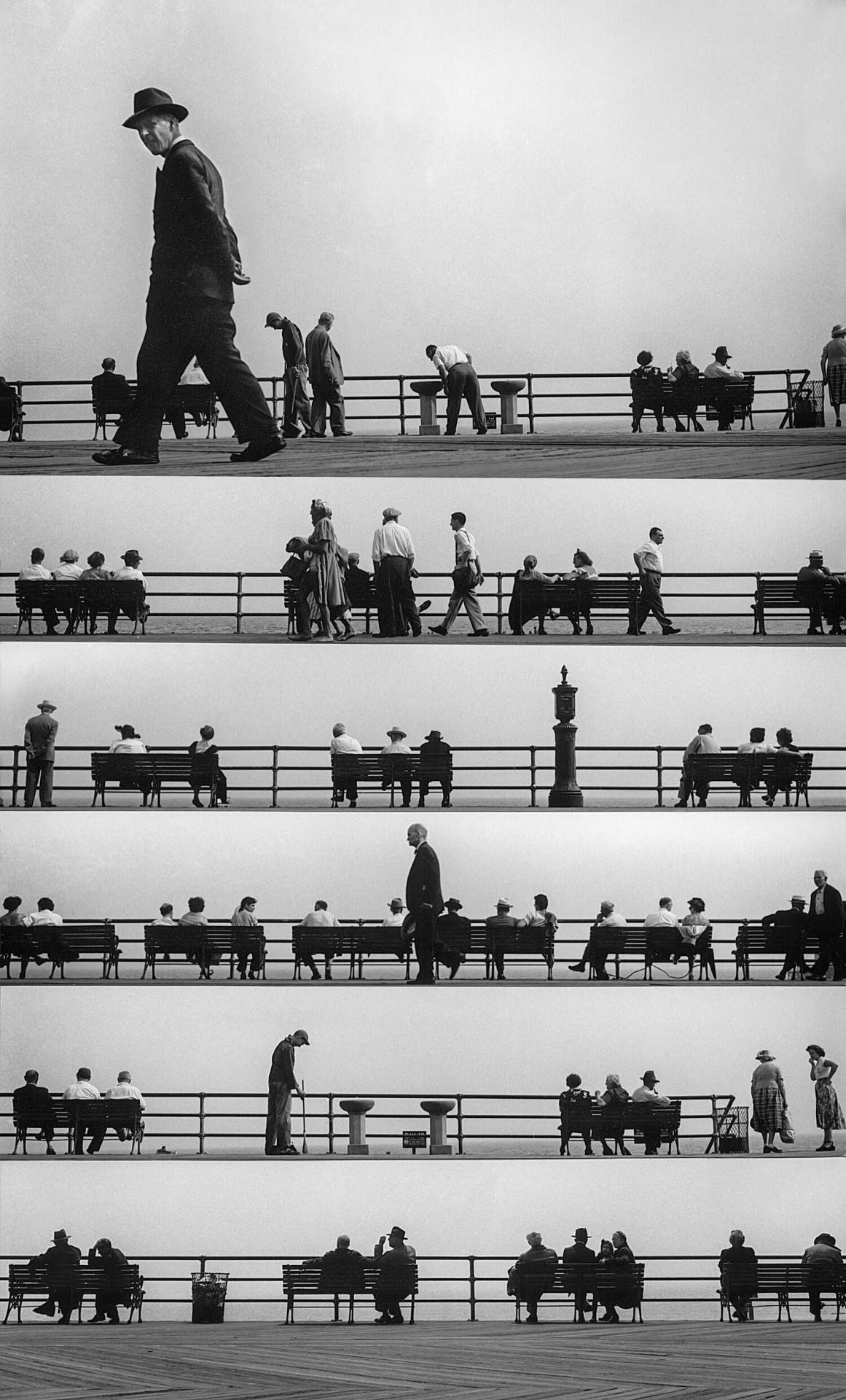 Нотный стан набережной, 1952. Фотограф Гарольд Файнштейн