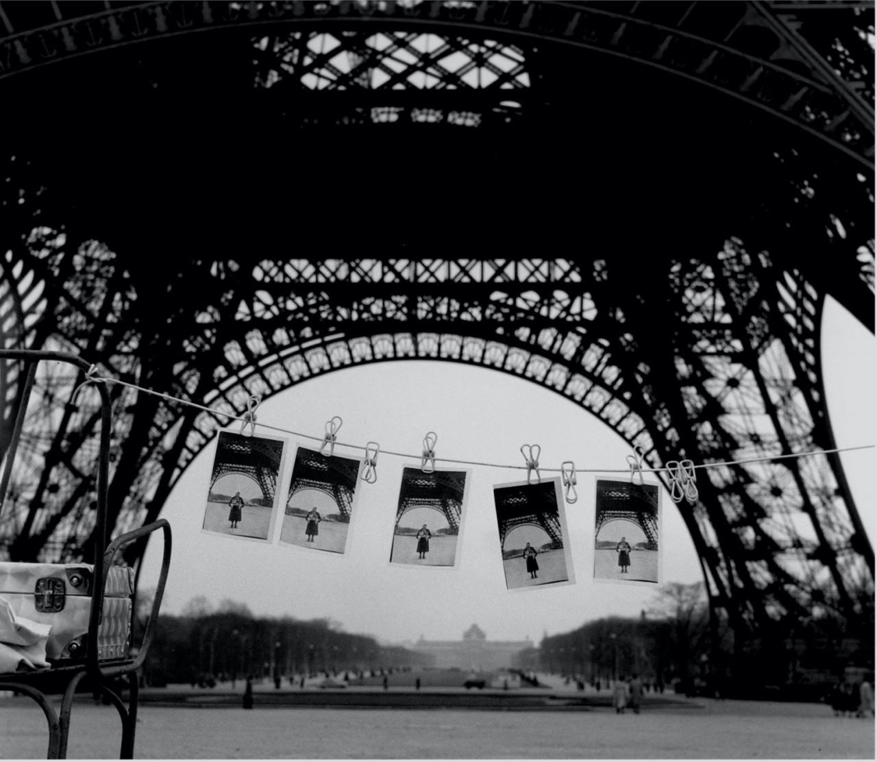 Сушка на Эйфелевой башне, 1955. Фотограф Сабина Вайс