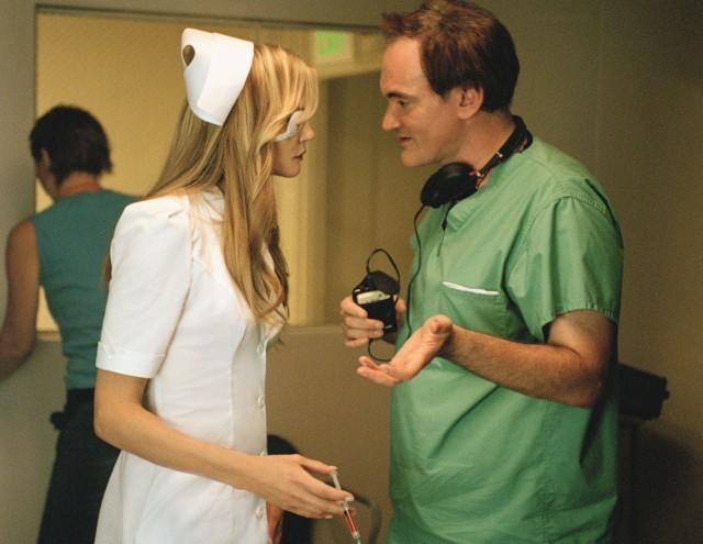 Квентин Тарантино на съёмках фильма «Убить Билла. Фильм 2», 2004