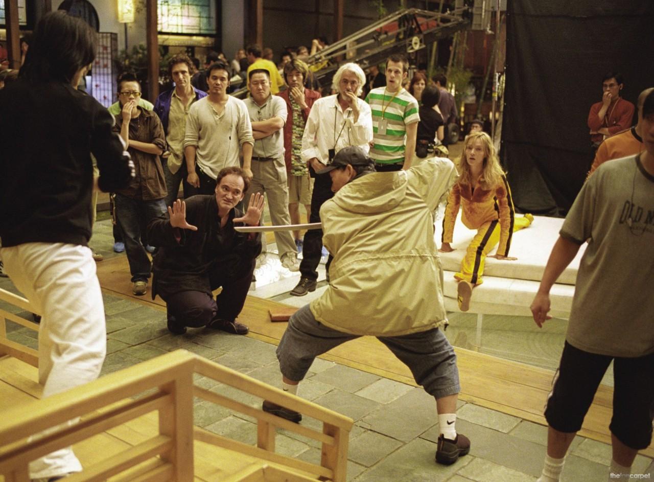 На съёмочной площадке «Убить Билла. Фильм 1», 2003