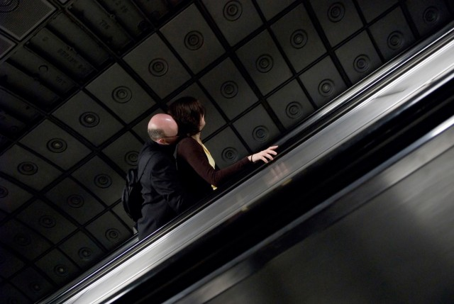«Пара на эскалаторе». Фотограф Нильс Йоргенсен