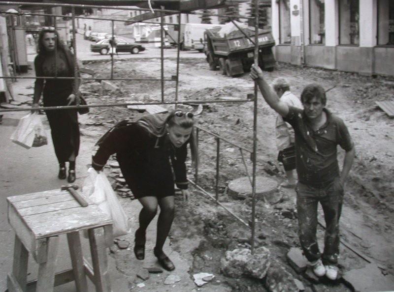 Угол Большой Дмитровки и Столешникова переулка, Москва, 1997.