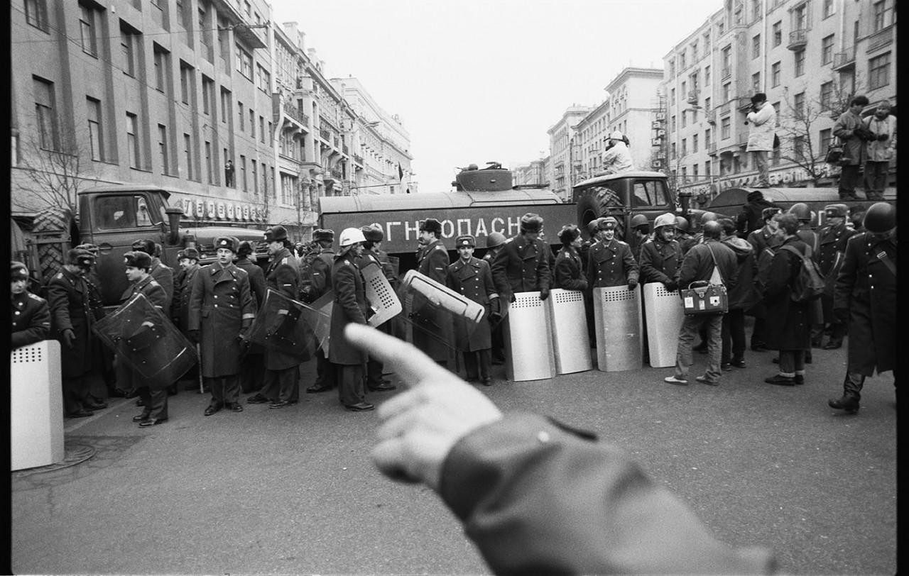 Улица Горького, Москва, 1991.