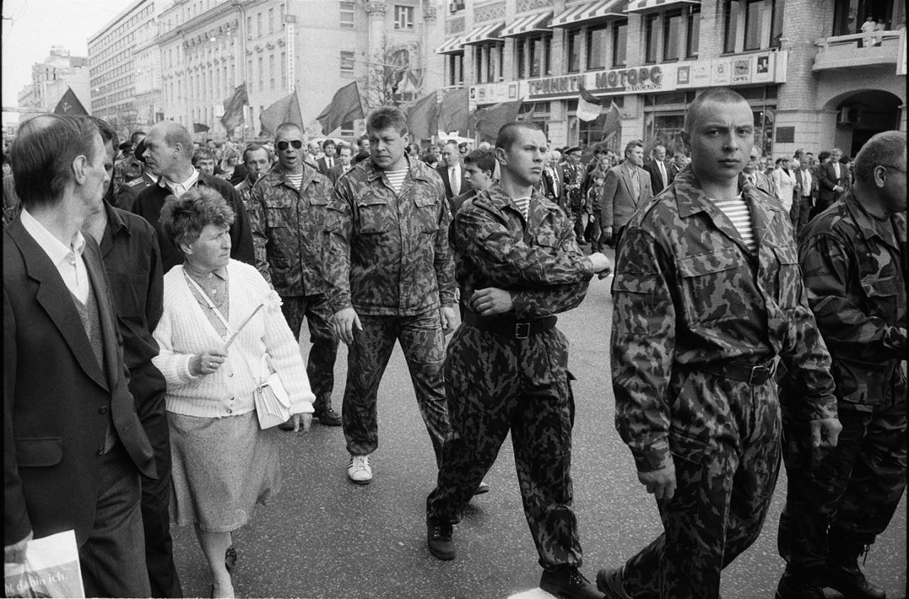 9 мая, Тверская улица, Москва, 1998.