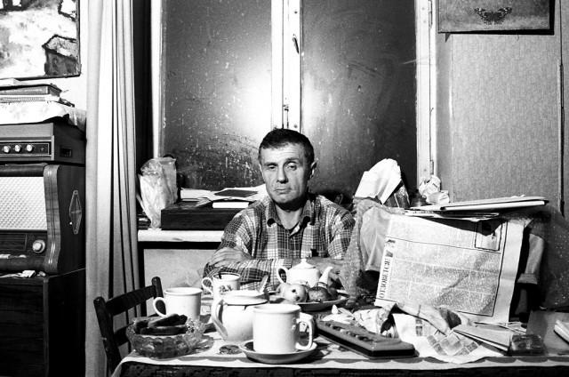 Поэт Всеволод Некрасов, Москва, 1990. Фотограф Игорь Мухин