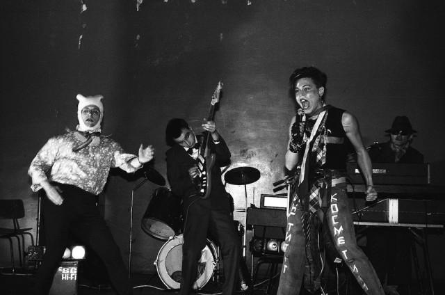 Концерт группы «НИИ Косметики», Москва, 1987. Фотограф Игорь Мухин