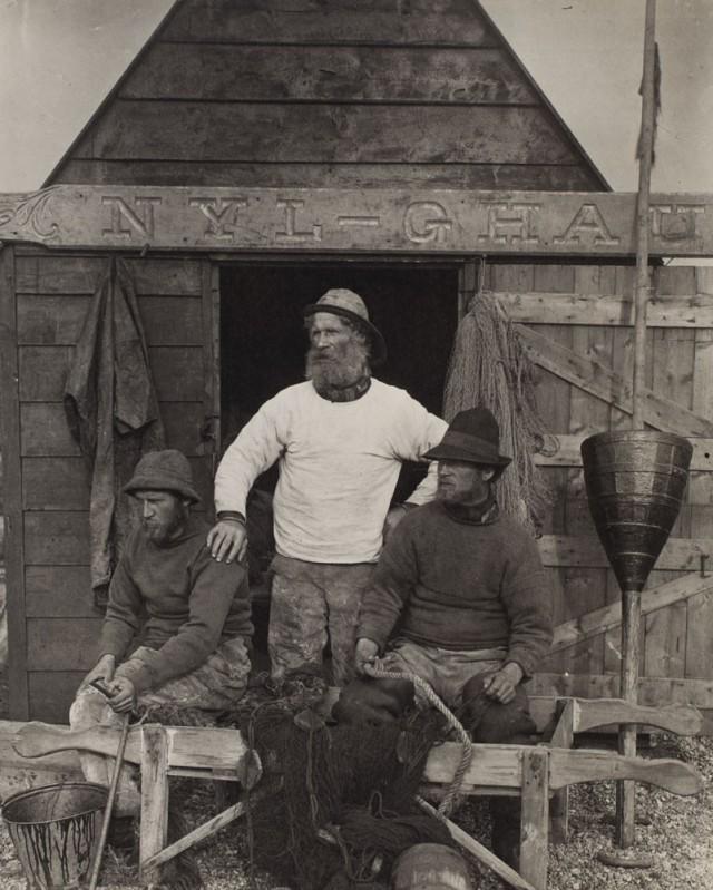 Рыбаки Восточного побережья, ок. 1886. Фотограф Питер Генри Эмерсон