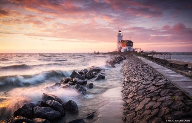 Маяк Паард ван Маркен, Маркен, Северная Голландия. Фотограф Андре Кошиновски