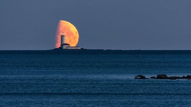 Толбухин маяк, вид с острова Котлин. Фотограф Глеб Пурихов