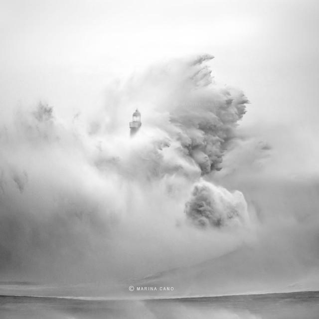 Шторм в Сантандере, Кантабрия, Испания. Фотограф Марина Кано