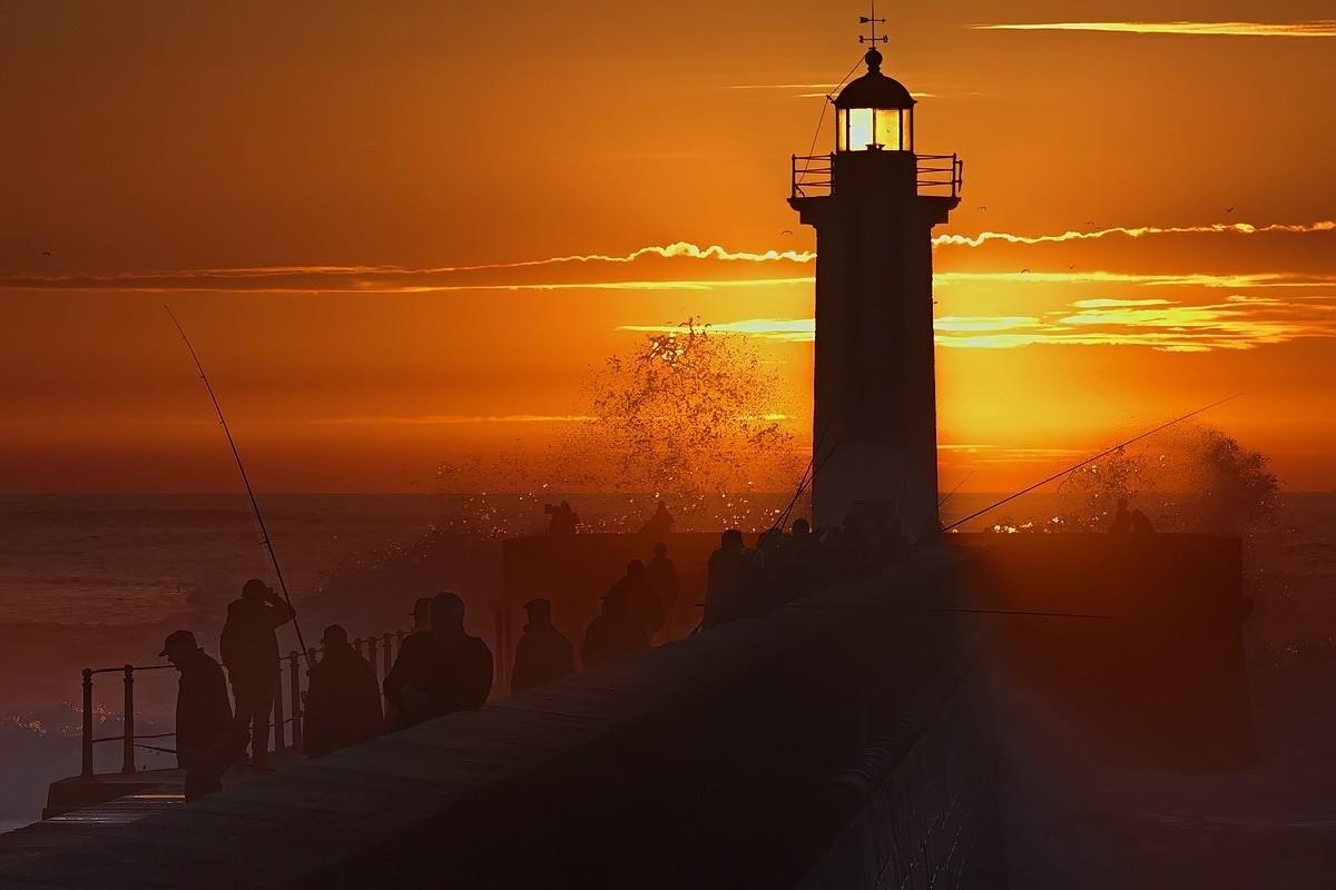 Закат в Порту, Португалия. Фотограф Елена Соловьёва