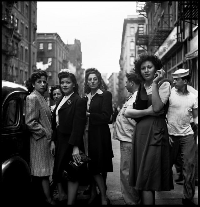 Маленькая Италия, Нью-Йорк, 1943. Фотограф Фред Стайн