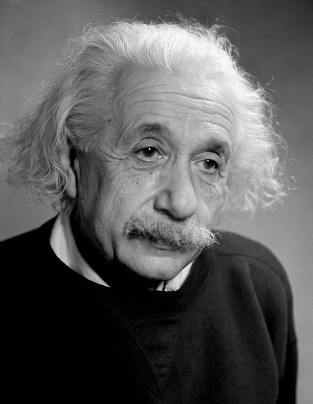 Альберт Эйнштейн, 1946. Фотограф Фред Стайн