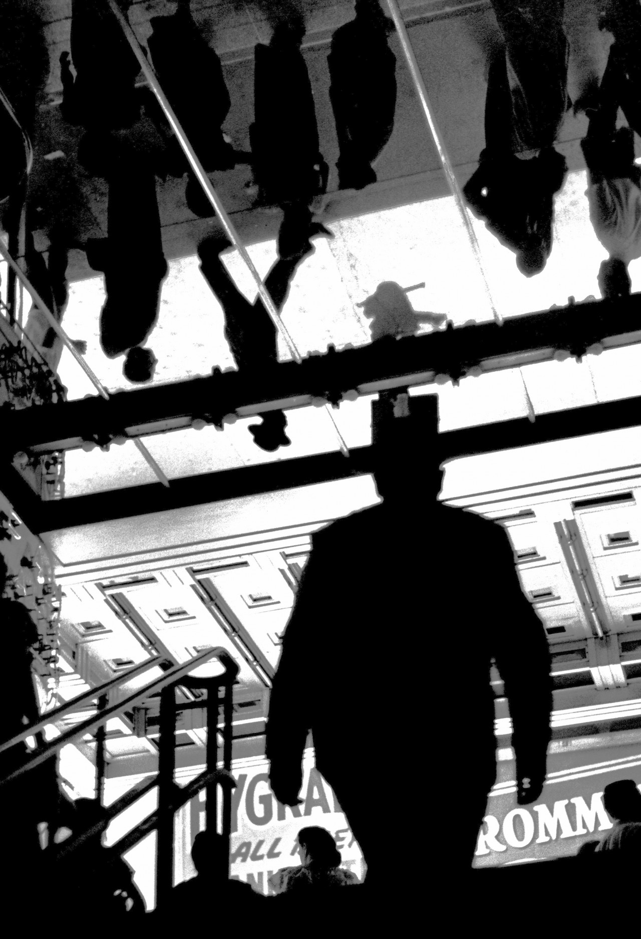 Выход из станции метро, Нью-Йорк, 1945. Фотограф Фред Стайн