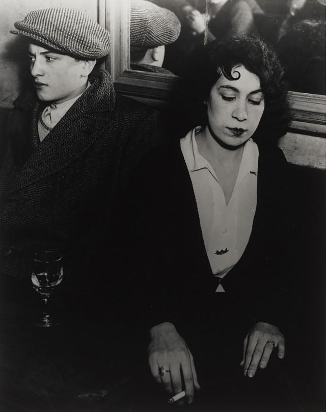 Пара любовников, 1932. Фотограф Брассаи
