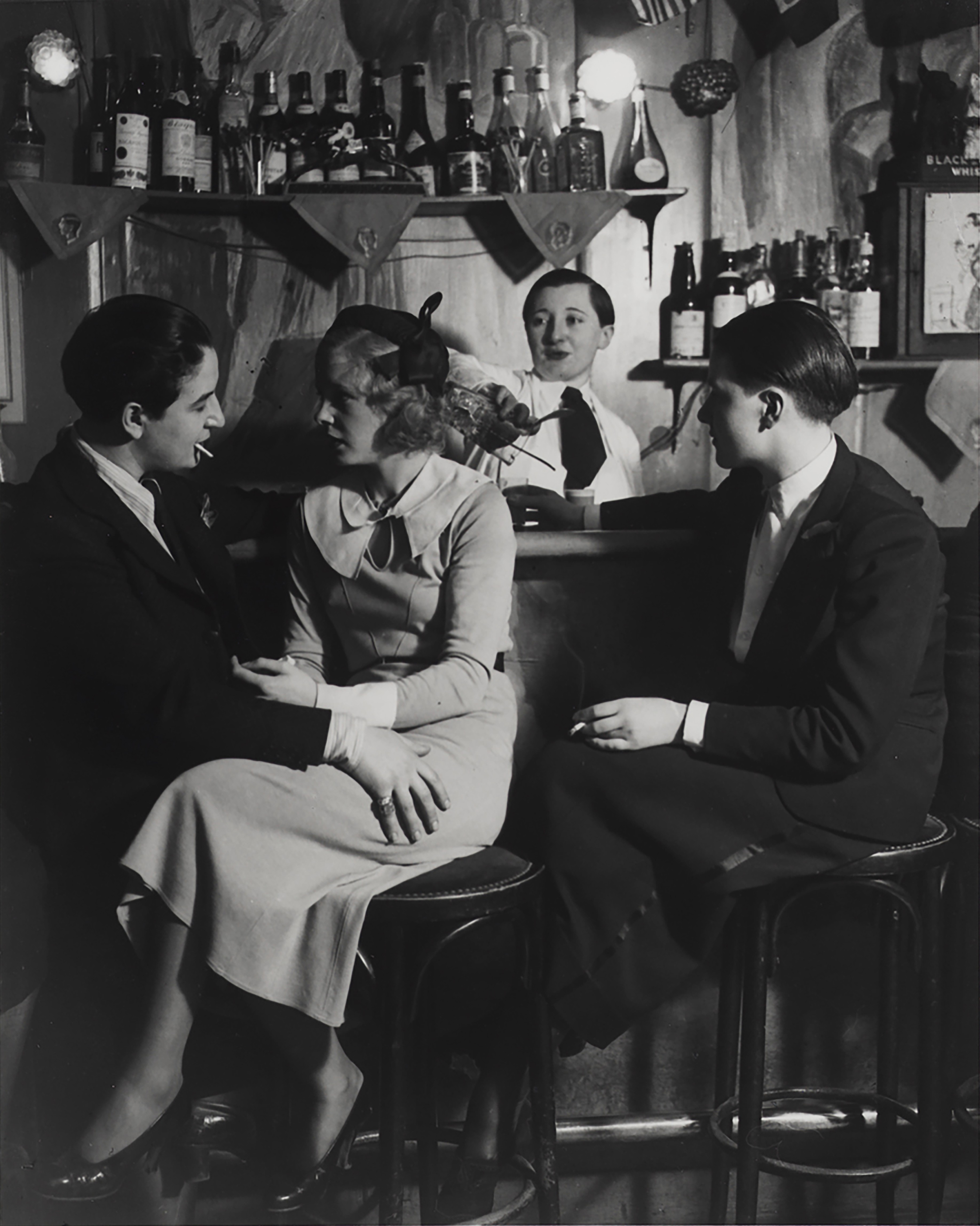 Ле Монокль, Бар, около 1932-1933. Фотограф Брассаи